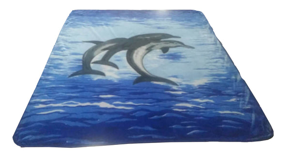 Blanket Queen ATL- Dolphin Ct- Dolphins 8185