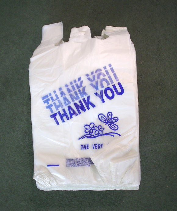 BAGS THANK YOU WHITE