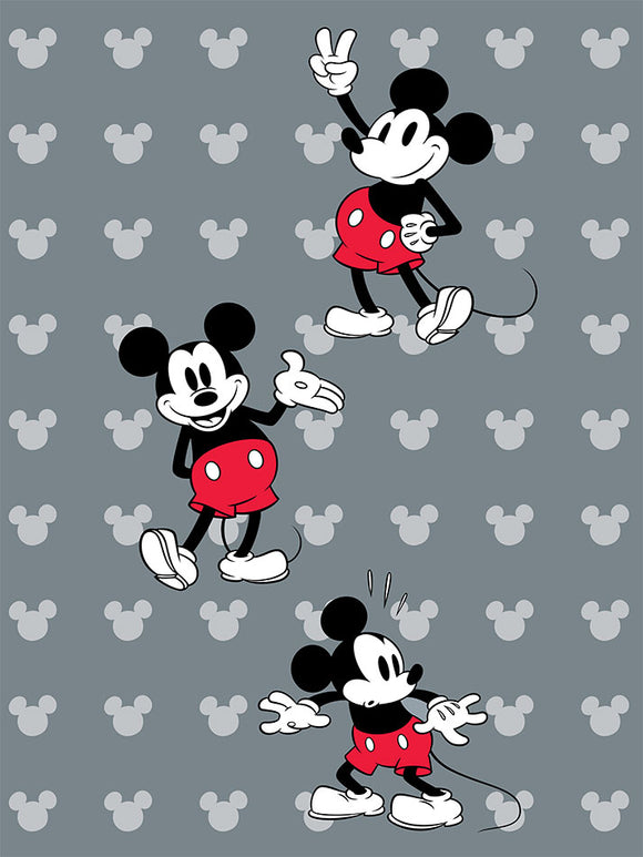 Blanket 60x80 Cartoon Mickey Mouse Playful Full Scale
