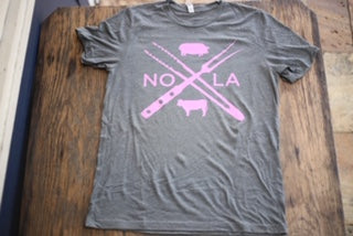 NOLA X PINK AND GREY TEE