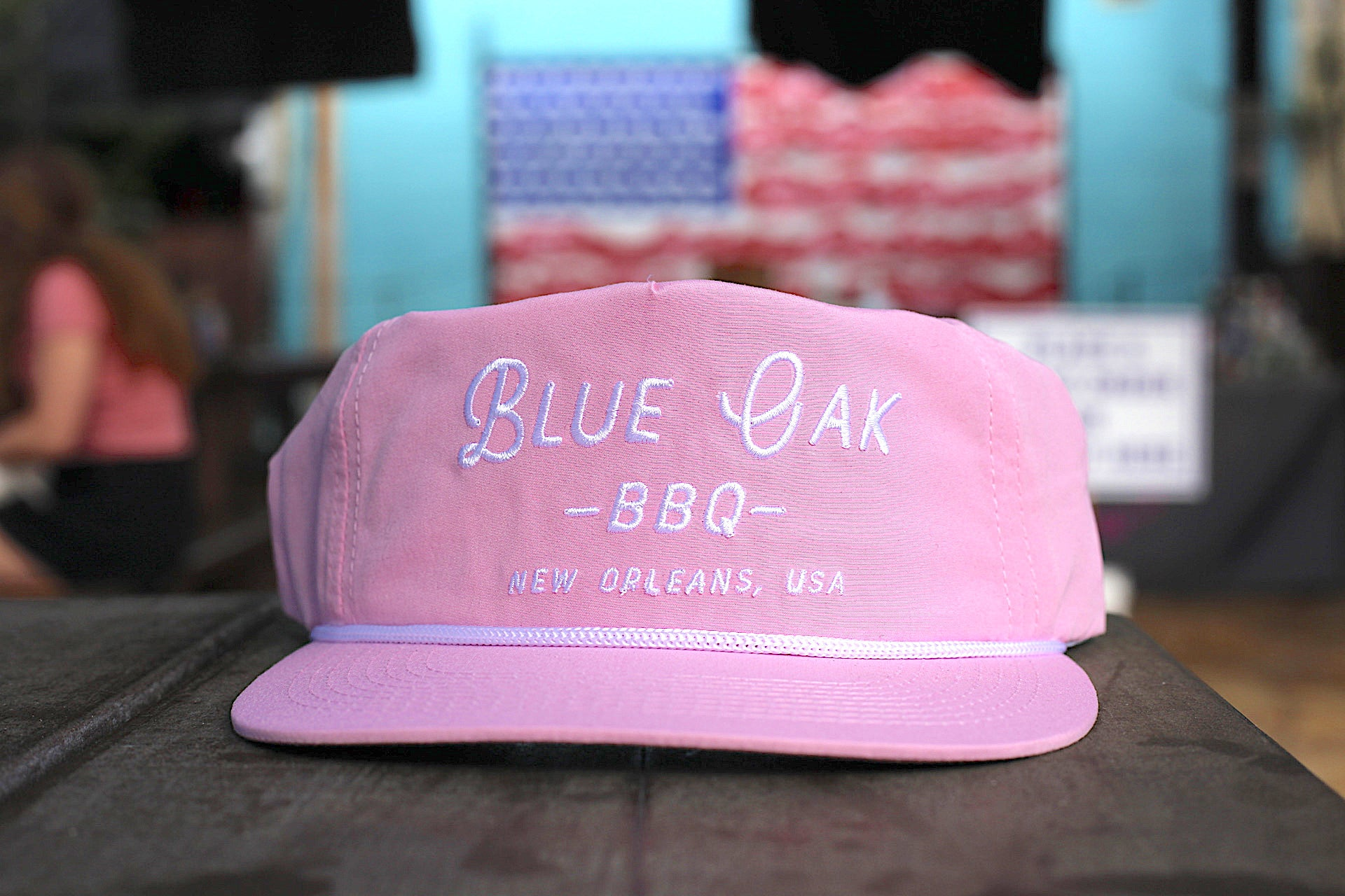 Blue Oak Powder Pink Rope Hat