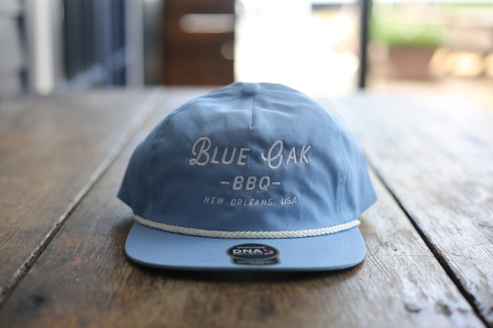 Blue Oak Imperial Baby Blue Rope Hat