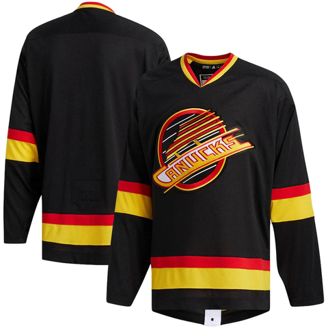 Adidas Authentic Vancouver Canucks Black Jersey - Men's