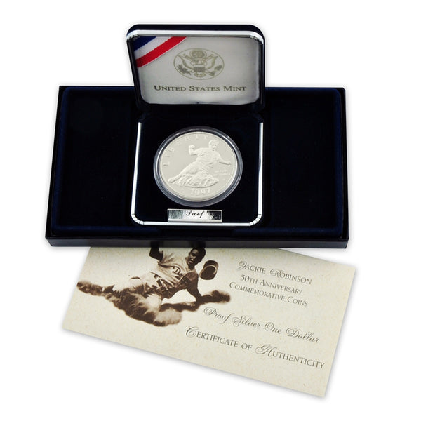 1997 Jackie Robinson Commemorative Silver Dollar Proof