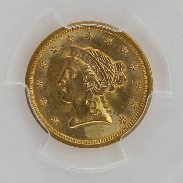 $2.50 Liberty Gold Quarter Eagle PCGS MS63 (Year Varies)