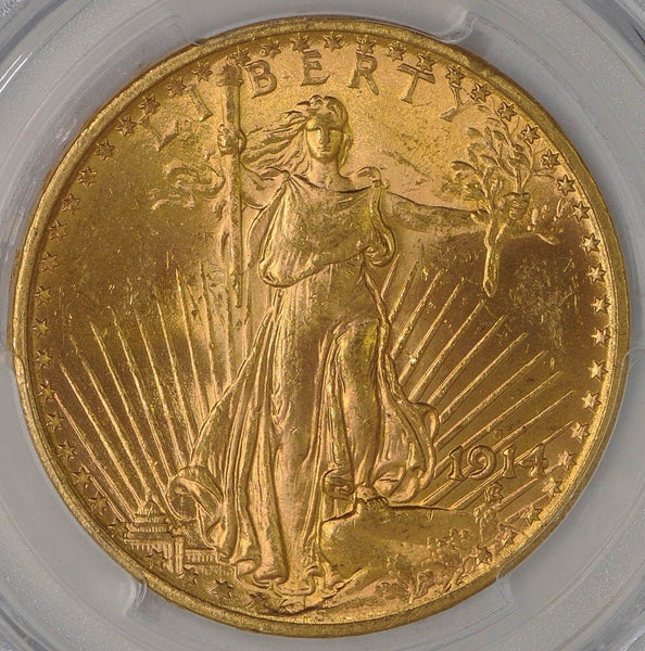 $20 Saint Gaudens Gold Double Eagle PCGS MS63 (Year Varies)