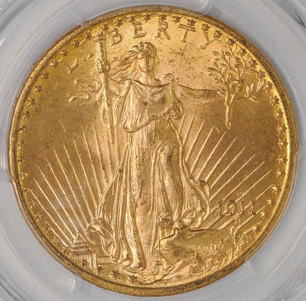 $20 Saint Gaudens Gold Double Eagle PCGS MS65 (Year Varies)