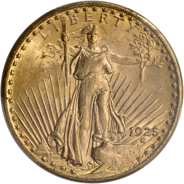 $20 Saint Gaudens Gold Double Eagle PCGS MS62 (Year Varies)