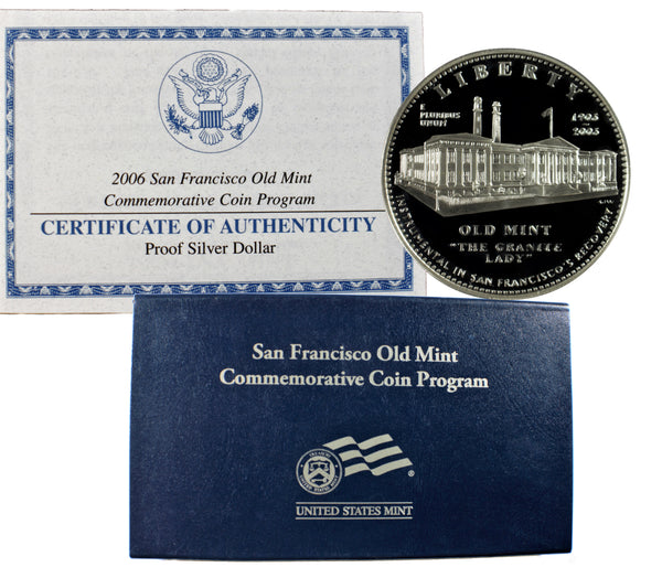2006 Old San Francisco Mint Commemorative Silver Dollar Proof