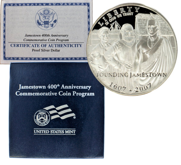 2007 Jamestown 400th Anniversary Commemorative Silver Dollar Proof