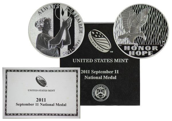2011 September 11 National Medal Commemorative Silver Dollar BU