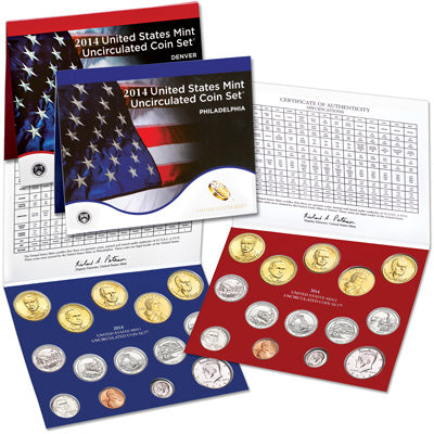2014 U.S. Mint Uncirculated Coin Set