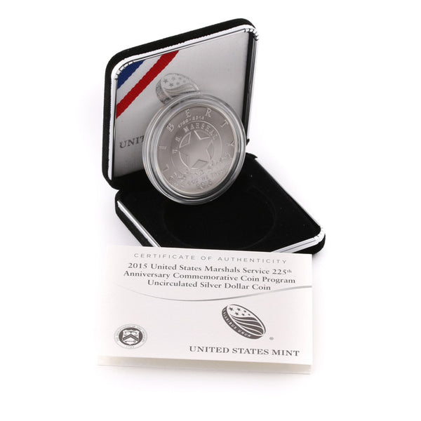 2015 Marshals Service Commemorative Silver Dollar BU