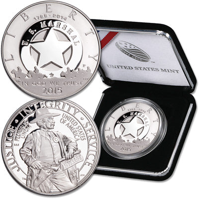 2015 Marshals Service Commemorative Silver Dollar Proof