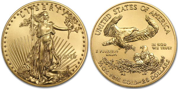 1/2 oz American Gold Eagle (Year Varies)