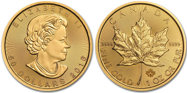 1 oz Canadian Gold Maple Leaf (Year Varies)