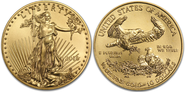 1/4 oz American Gold Eagle (Year Varies)