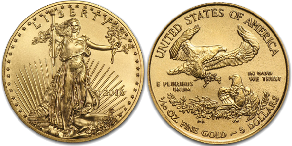 1/10 oz American Gold Eagle (Year Varies)