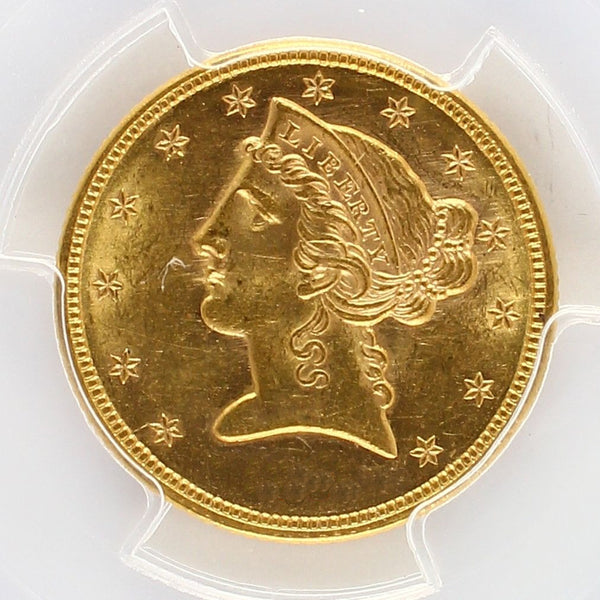 $5 Liberty Gold Half Eagle PCGS MS62 (Year Varies)