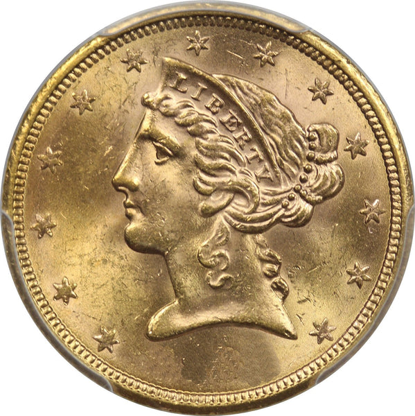 $5 Liberty Gold Half Eagle PCGS MS64 (Year Varies)