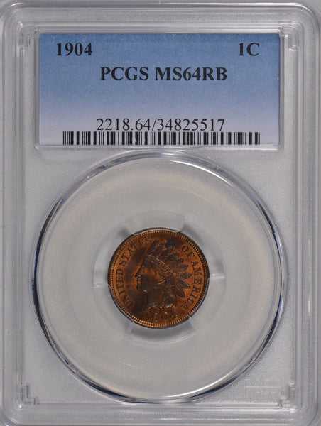 1904 Indian Cent PCGS MS-64 RB #178829