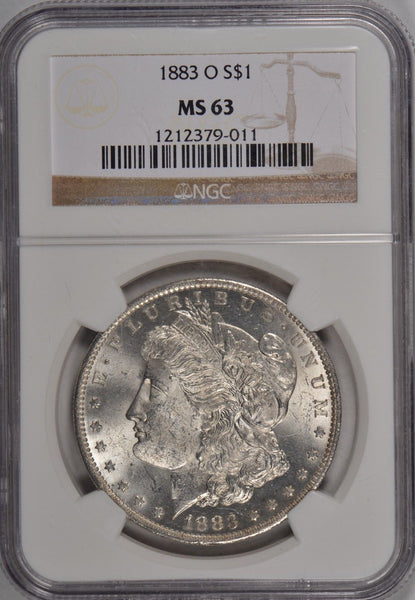1883-O Morgan Silver Dollar NGC MS 63 #186114