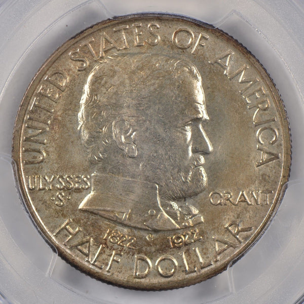 1922 Grant Silver Commemorative Half Dollar PCGS MS-66 #185744