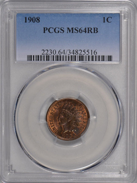 1908 Indian Head PCGS MS-64 RB #175354
