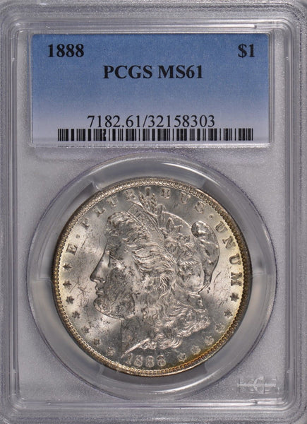 1888 Morgan Silver Dollar PCGS MS 61 #171766