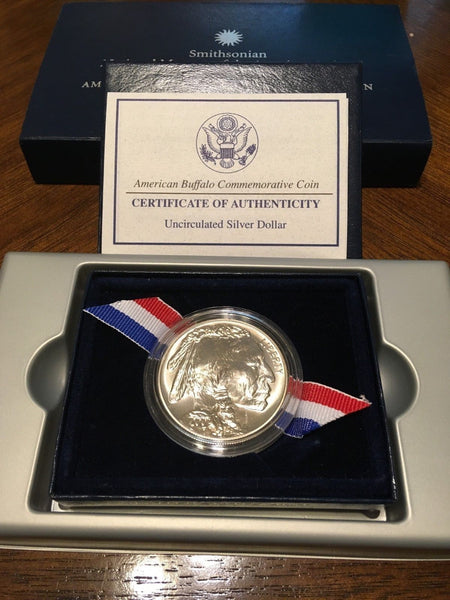 2001 Uncirculated American Buffalo Commemorative Coin with Box and COA
