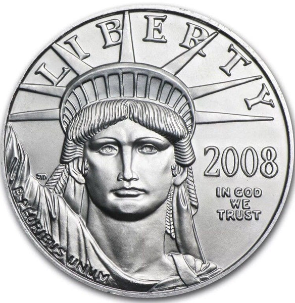 2008 1/10 oz American Platinum Eagle Mint-State BU