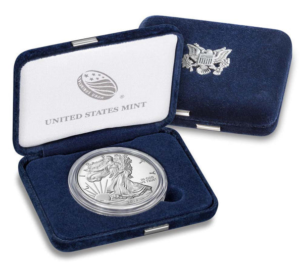 2018-W Proof American Silver Eagle Coin with Box and COA