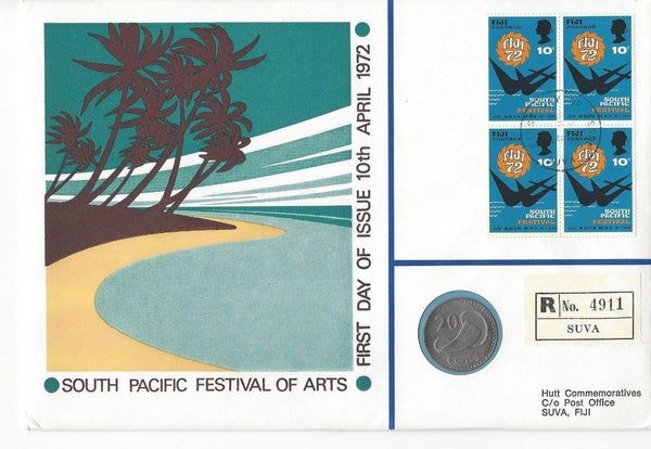1972 South Pacific Festival of Arts Coin and Stamp set