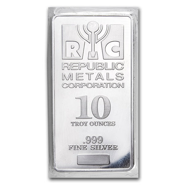 10 oz Silver Bar - Brand Varies