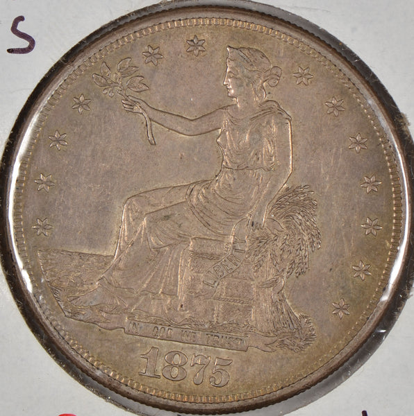 1875-S Trade Dollar About Uncirculated #181317