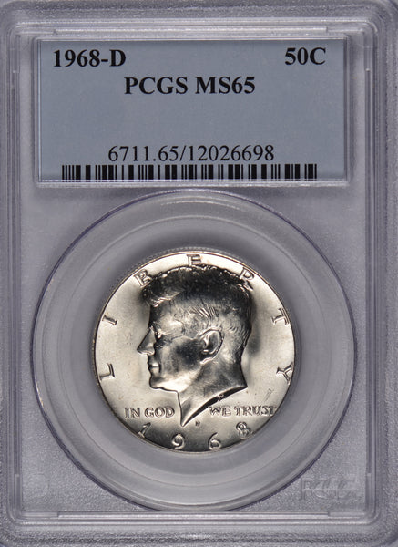 1968-D Kennedy Dollar PCGS MS-65 #180415