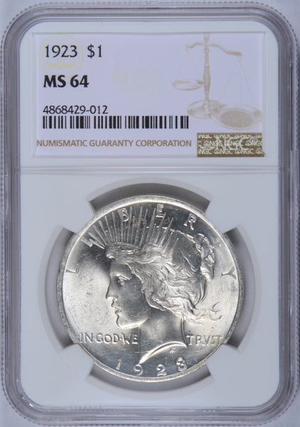 1923 Peace Dollar NGC MS-64