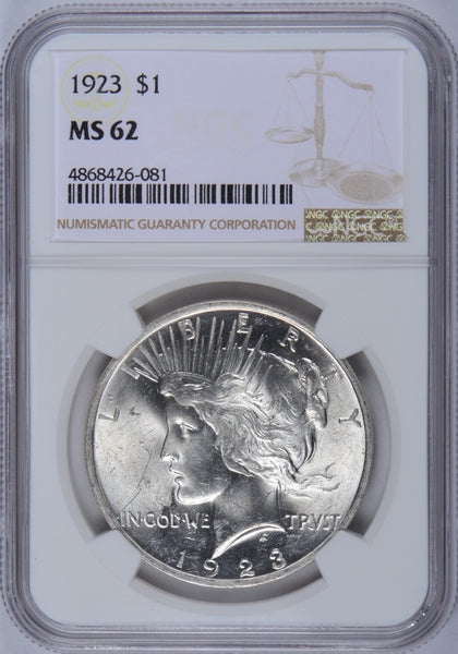 1923 Peace Dollar NGC MS-62