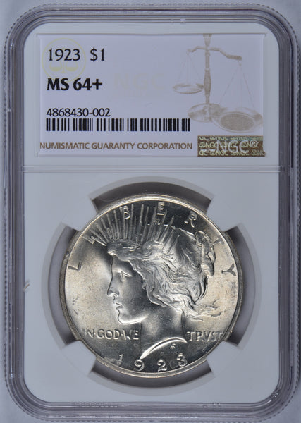 1923 Peace Dollar NGC MS-64+ #185443