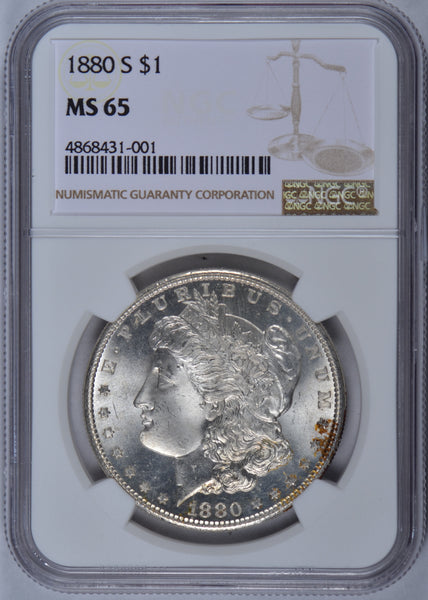 1880-S Morgan Dollar NGC MS-65 #181169