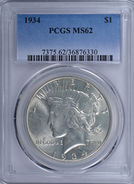 1934 Peace Dollar PCGS MS-62 #182920