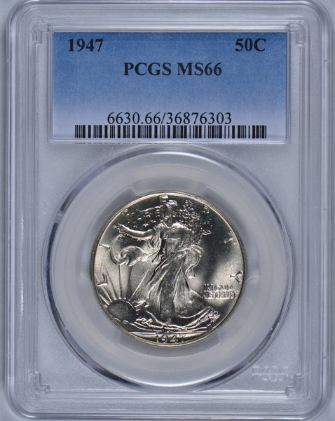 1947 Walking Liberty Half Dollar PCGS MS-66 #182941