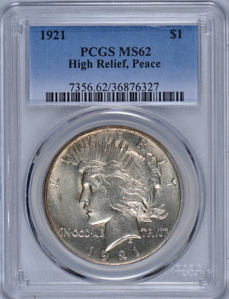 1921 Peace Dollar High Relief PCGS MS-62 #180196
