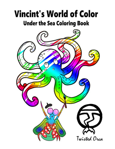 Vincent the Mantis Shrimp Coloring Book