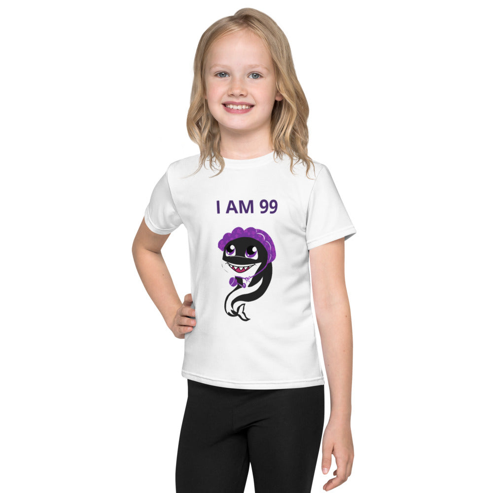 I am 99 Southern Resident Orca Kids Crew Neck T-Shirt