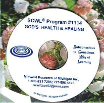 Gods Health and Healing SCWL CD Number 1114