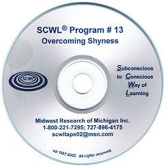Overcoming Shyness SCWL Subliminal CD Number 13
