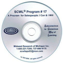 "A Program for Sales People, ""I Can and I Will"" SCWL Subliminal CD Number 17"