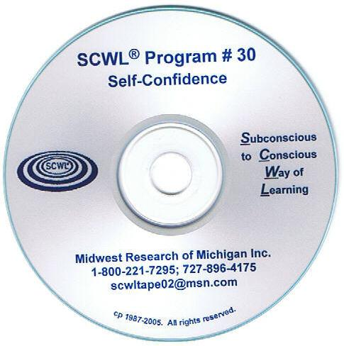 Self Confidence SCWL Subliminal Programs CD Number 30