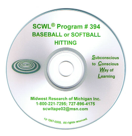 Baseball or Softball- Hitting CD Number 394
